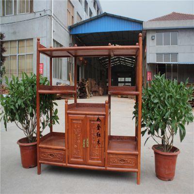 中式仿古红木家具 非洲花梨大茶水柜 新古典红木茶茶桌茶水柜