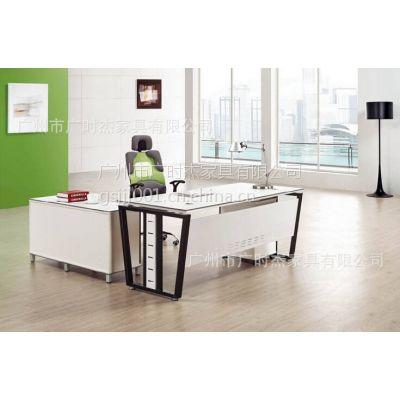 供应深圳办公家具简约现代时尚钢架办公桌 电脑桌可定制