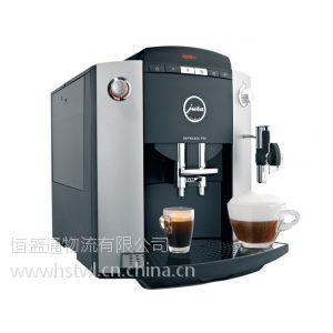 咖啡机国外到国内运输环节,中转香港全程运输,全程进口专线,进口货代