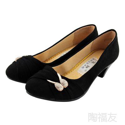 杭州总代老北京布鞋 时尚时装女鞋 工作鞋 防滑耐磨蝴蝶结单鞋