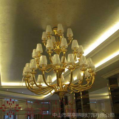售楼中心洽谈区吊灯 门厅装饰水晶吊灯 售楼部照明灯具