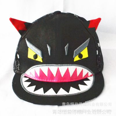 2015春季新款韩版儿童帽子大嘴怪兽小恶魔棒球帽嘻哈帽户外遮阳帽