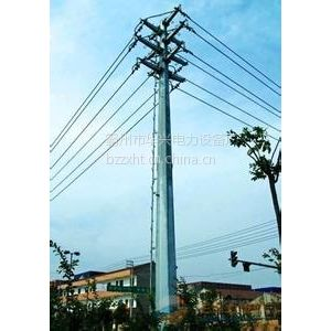 供应供应沧州10KV输电钢杆、电力钢杆及打桩施工