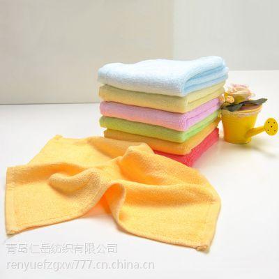 纯竹竹纤维方巾 便宜 儿童手帕 口水巾 幼儿园小方巾 手帕 F-011