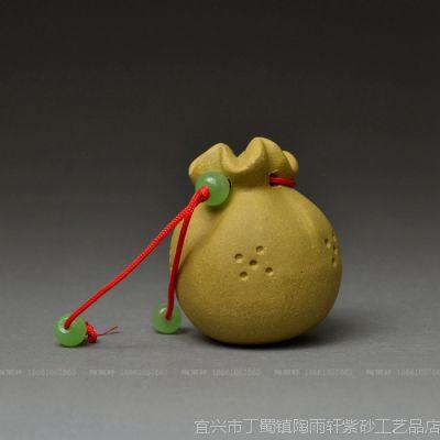 供应福袋*宜兴紫砂茶宠批发名家手工摆件茶玩厂家图片SX282