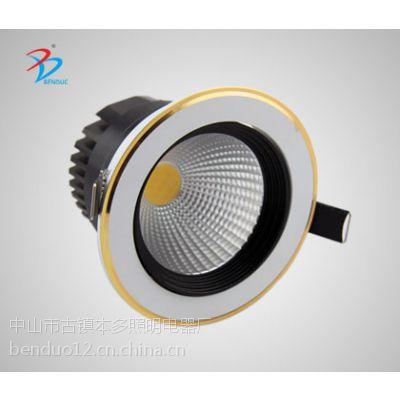 厂家批发5W7W本多新款cob高档烤漆LED天花灯