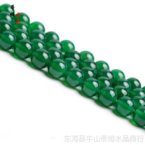 供应DIY手工饰品配件 天然水晶 绿玛瑙散珠 圆珠 串珠 半成品批发