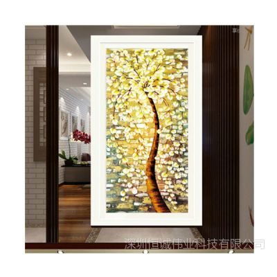 大幅面艺术玻璃电视背景墙uv印花机器 浮雕平面幻彩一体机