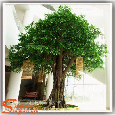 榕树仿真厂家直销 玻璃钢大型仿真榕树 假树定做 仿真树