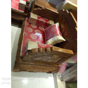 供应红木沙发六件套厂家直销刺猬紫檀荷花宝座沙发