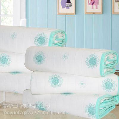 六层纱布 竹纤维儿童纱布浴巾 毛毯 婴儿医用纱布盖毯、抱被S-019