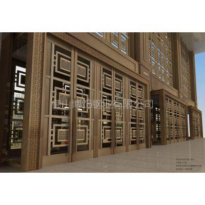 不锈钢大门设计公司 拉丝青古铜大门 青古铜不锈钢屏风隔断