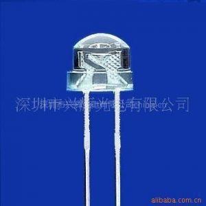 5MM直插LED草帽灯 5mm草帽正白光灯珠 高亮度草帽白光灯珠