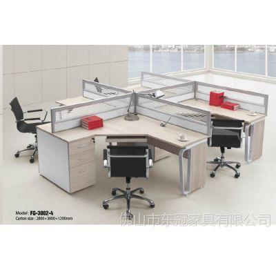 供应厂家批发简约板式五金办公家具组合办公桌员工桌屏风工作位