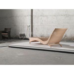 武汉折叠躺椅 休闲椅 编藤长椅