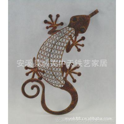 铁艺工艺动物摆件 壁虎造型美观装饰 办公桌摆件