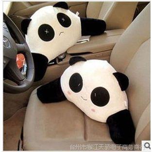 汽车腰靠 熊猫腰靠 卡通腰靠 车用靠垫