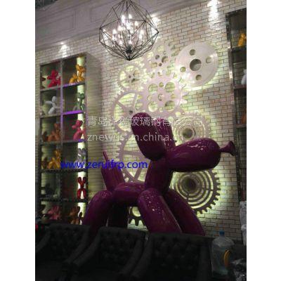 精品之作KTV大厅玻璃钢大狗雕塑摆件