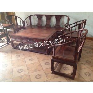 老挝大红酸枝皇宫椅沙发,交趾黄檀沙发皇宫椅8件套