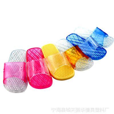 2014年厂家直销 新款 韩版 潮流 按摩 防滑  漏水 PVC浴室 拖鞋