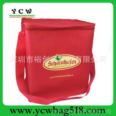 深圳厂家 来样订做冰包 红色单肩野餐冰包 牛津布冰包 可加印LOGO