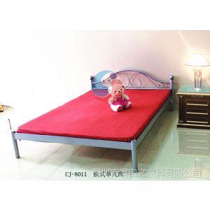 供应大量批发 长锦新款H型卡扣式单层欧式床 学生公寓铁架床FYZ-8011
