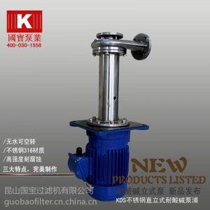 供应液下泵原理 国宝立式液下泵 0512-57818818【耐空转无轴封】