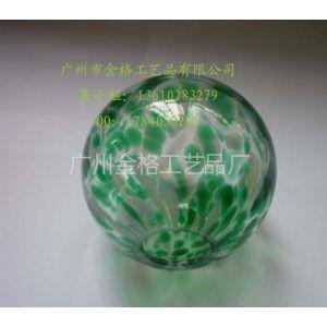 供应玻璃花点球,80mm花纹球 批量供应