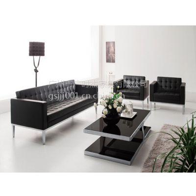 长期供应办公沙发 简约现代五金沙发 商务办公家具 三人真皮沙发