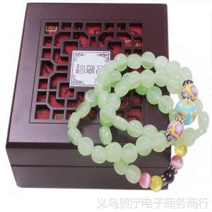 供应仿玉石手链高档多层三层水晶手链  设计男女款通用 原创风格