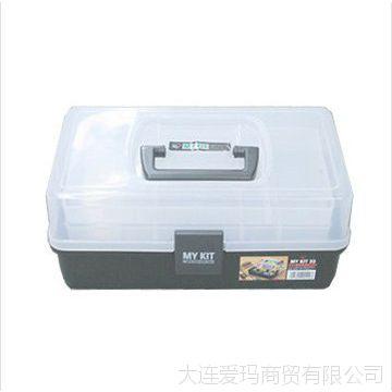 爱丽思IRIS 工具箱 整理箱 透明树脂工具盒MY KIT 33