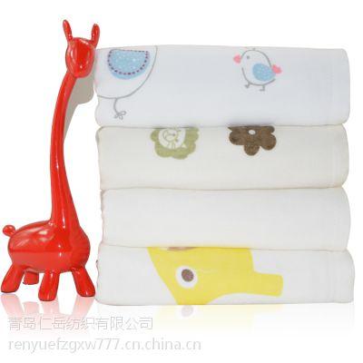 纱布浴巾双层印花 竹纤维婴幼儿浴巾 吸水抗菌浴巾Y-082