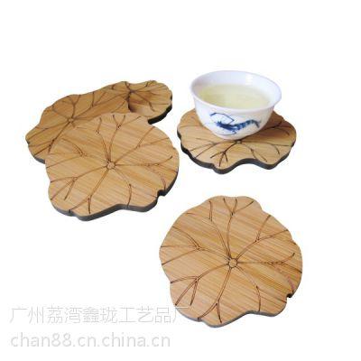 厂家促销 荷花杯垫 竹制杯垫 广州杯垫生产厂家 直销