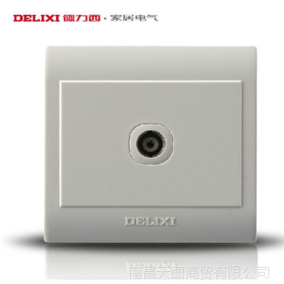 电视插座 德力西墙壁开关插座面板 CD130明装系列 ***批发