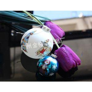 供应玻璃圣诞球/圣诞吊饰球 可喷色电镀丝印logo