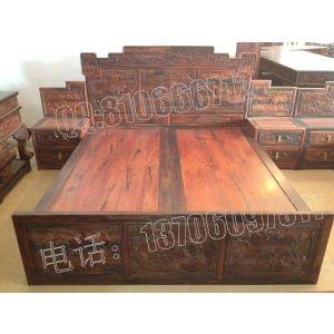 供应老挝大红酸枝富贵大床,交趾黄檀富贵大床,老红木富贵大床,大红酸枝富贵大床价格,仙游红木富贵大床加工厂