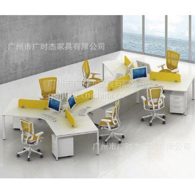 供应深圳广时杰办公桌简易钢架电脑台组合时尚屏风卡位可定制深圳办公厂家职员