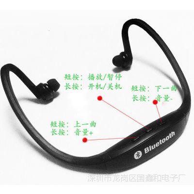 国鑫音乐MP3立体声蓝牙运动耳机 运动MP3 后挂式 立体声蓝牙