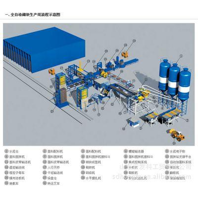 山东宏发供应全自动砌块  制砖 生产线  制砖机设备   免烧砖机设备 水泥砖机