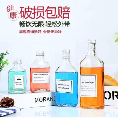 徐州宏华玻璃蒙砂玻璃瓶330饮料瓶定做玻璃饮料瓶