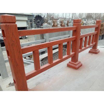厂家直销 道路绿化带仿木防护围栏 景观园林仿木隔离护栏 可定制