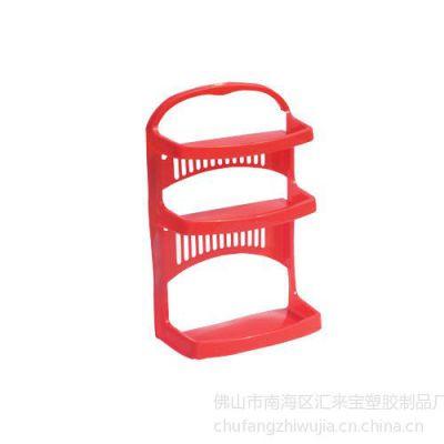供应墙壁式塑料三层卫生间置物架:壁架