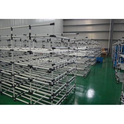 深圳公明线棒货架 线棒周转车 线棒工作台 精益管仓储物料架
