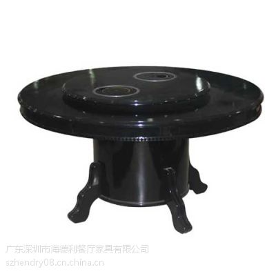 餐厅火锅桌促销 超值实木火锅桌椅 电磁炉火锅桌子 批发定做
