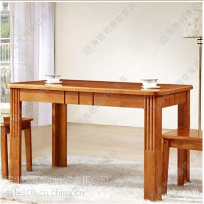 全实木餐桌厂价定做 水曲柳实木餐桌 长方形西餐桌 特色咖啡厅餐桌