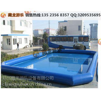 河南大型气垫冲水池供货商 在广场弄水池摇船生意好吗 充气水池的优势