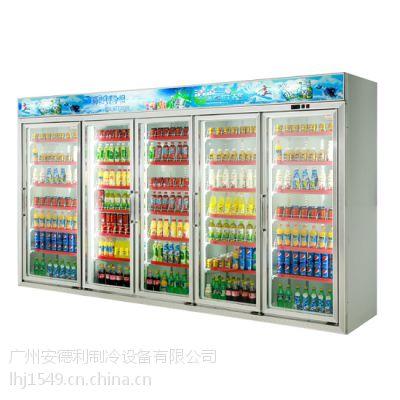 供应安德利 立式玻璃门饮料柜 厂家直销 可定做