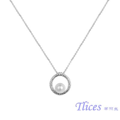 供应品牌饰品TM1007时尚圆形珍珠合金项链厂家直销批发韩版欧美饰品