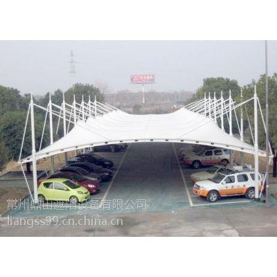 常州膜结构汽车遮阳蓬(960-PVDF)、景观棚厂家现场测量、设计、制作