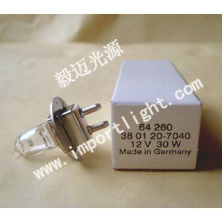 供应OSRAM欧司朗12V30W 64260裂隙灯灯泡